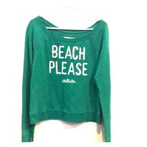 Hollister juniors size small crewneck sweatshirt